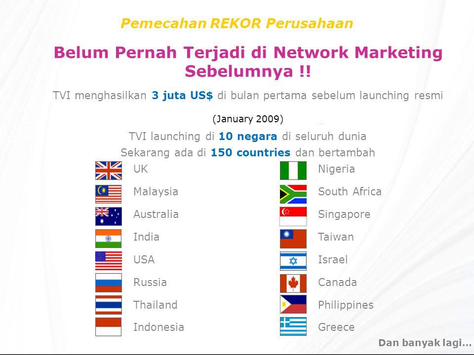 Belum Pernah Terjadi di Network Marketing Sebelumnya !!