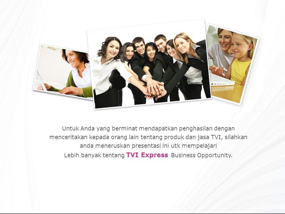 Lebih banyak tentang TVI Express Business Opportunity.