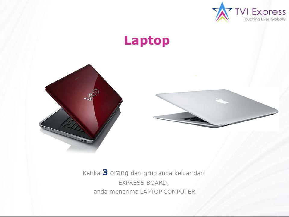 Laptop Ketika 3 orang dari grup anda keluar dari EXPRESS BOARD,