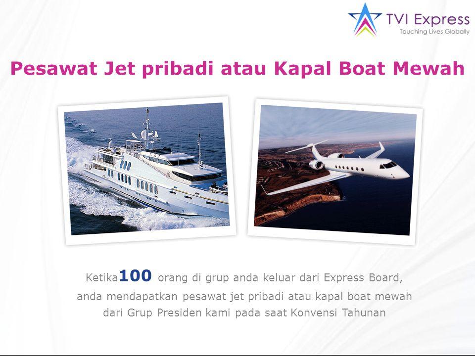 Pesawat Jet pribadi atau Kapal Boat Mewah