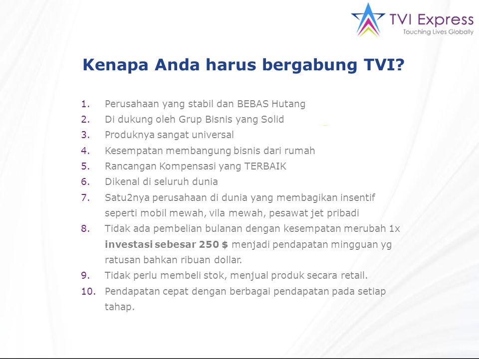 Kenapa Anda harus bergabung TVI