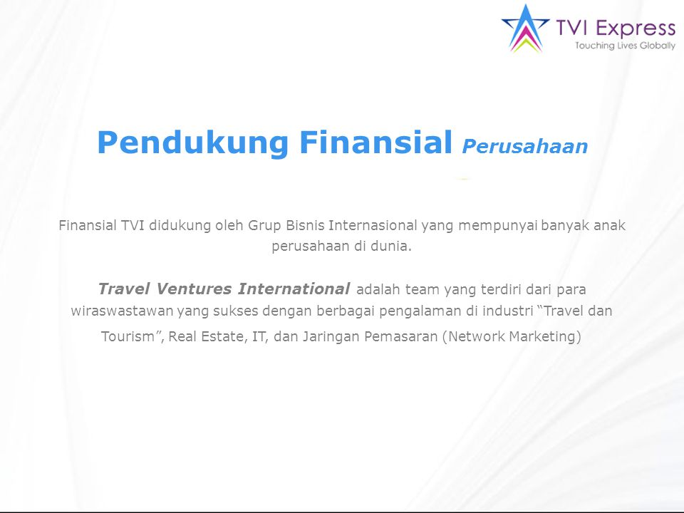 Pendukung Finansial Perusahaan