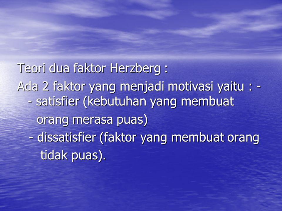 Teori dua faktor Herzberg :