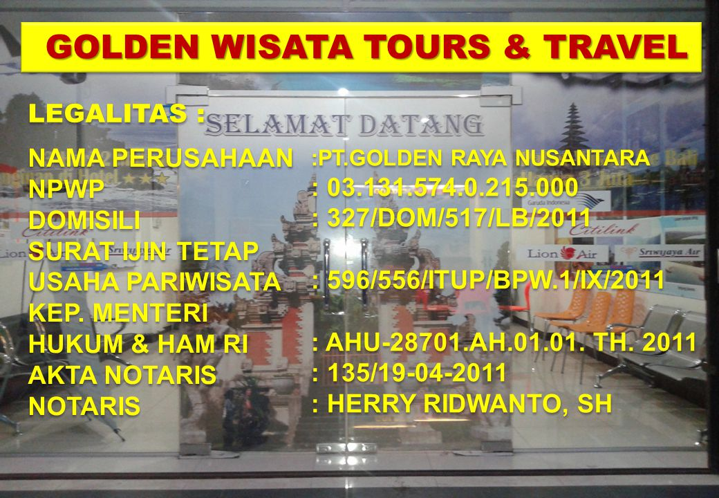 GOLDEN WISATA TOURS & TRAVEL