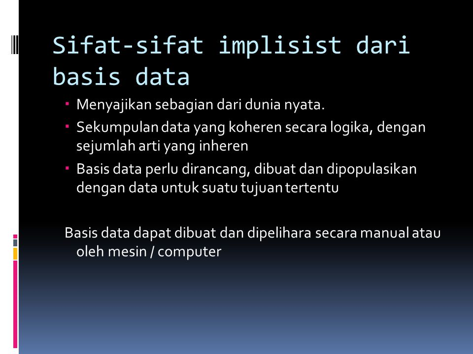 Sifat-sifat implisist dari basis data