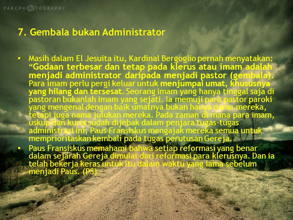 7. Gembala bukan Administrator