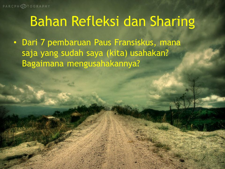 Bahan Refleksi dan Sharing