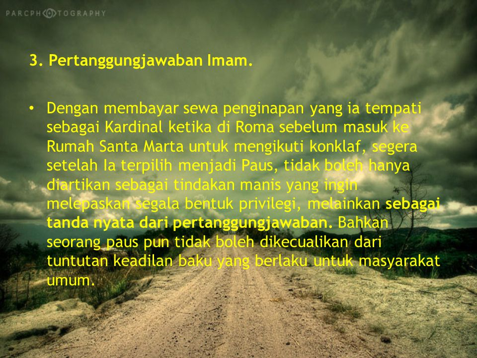 3. Pertanggungjawaban Imam.