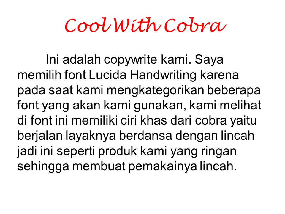 Cool With Cobra
