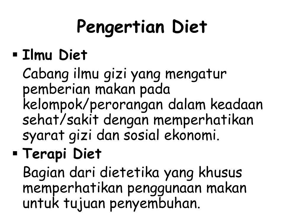 Pengertian Diet Ilmu Diet