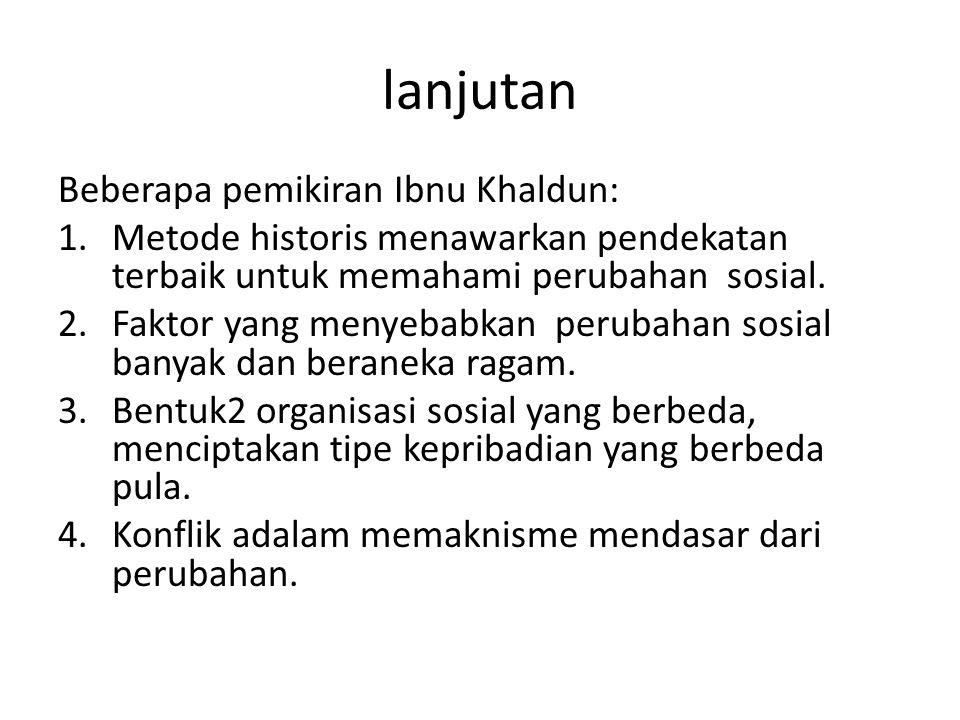 lanjutan Beberapa pemikiran Ibnu Khaldun: