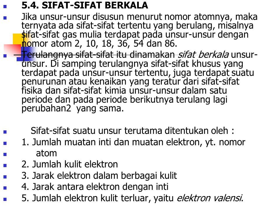 5.4. SIFAT-SIFAT BERKALA