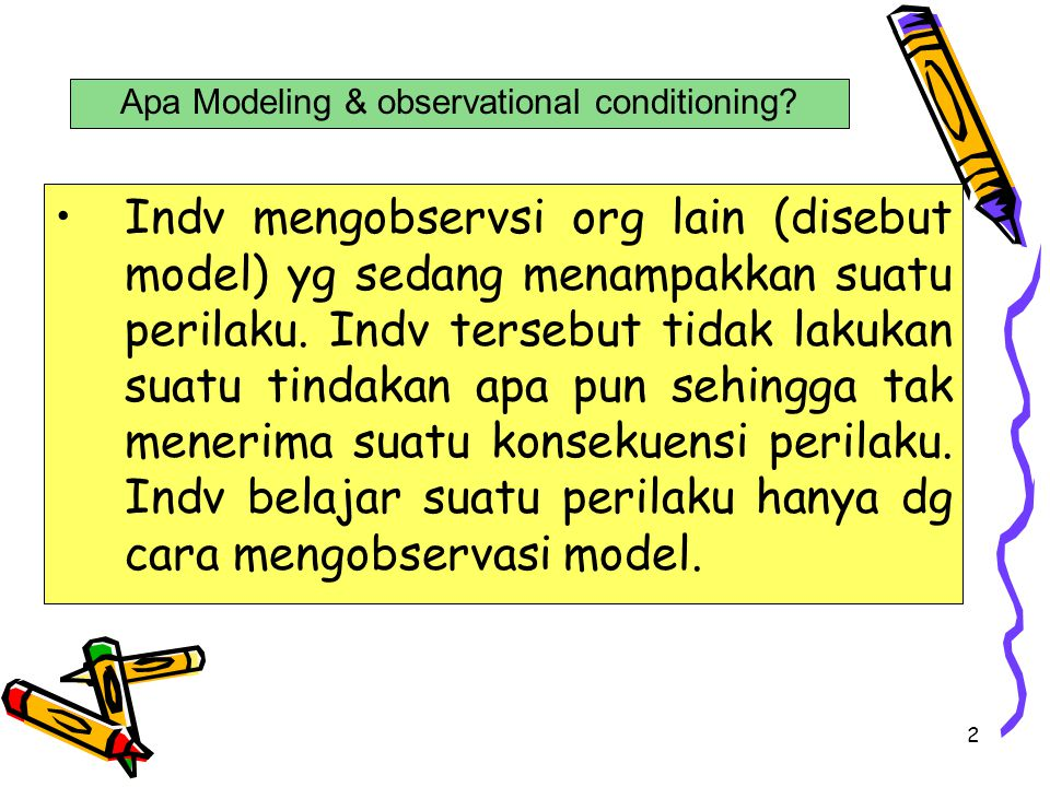 Apa Modeling & observational conditioning