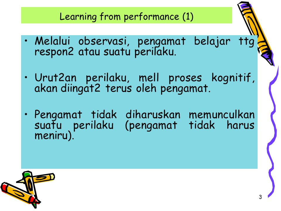 Learning from performance (1)