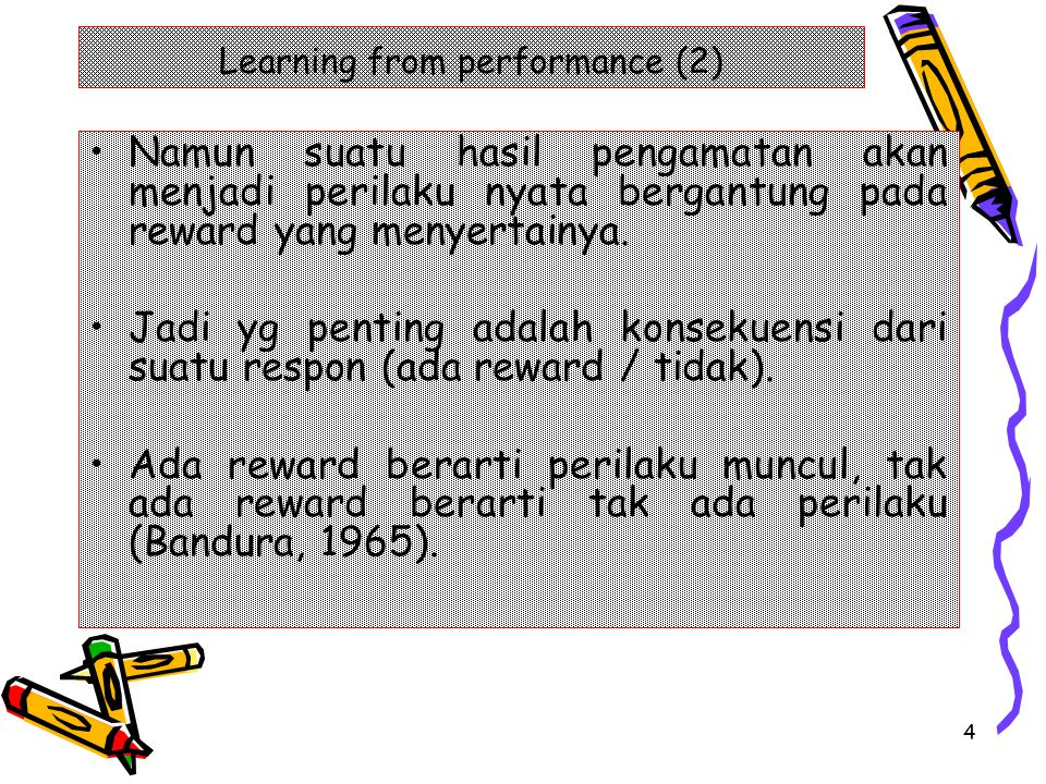Learning from performance (2)