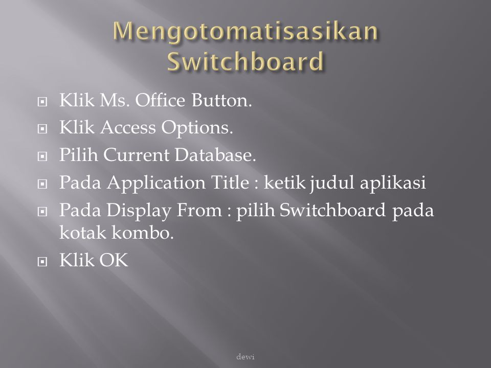 Mengotomatisasikan Switchboard