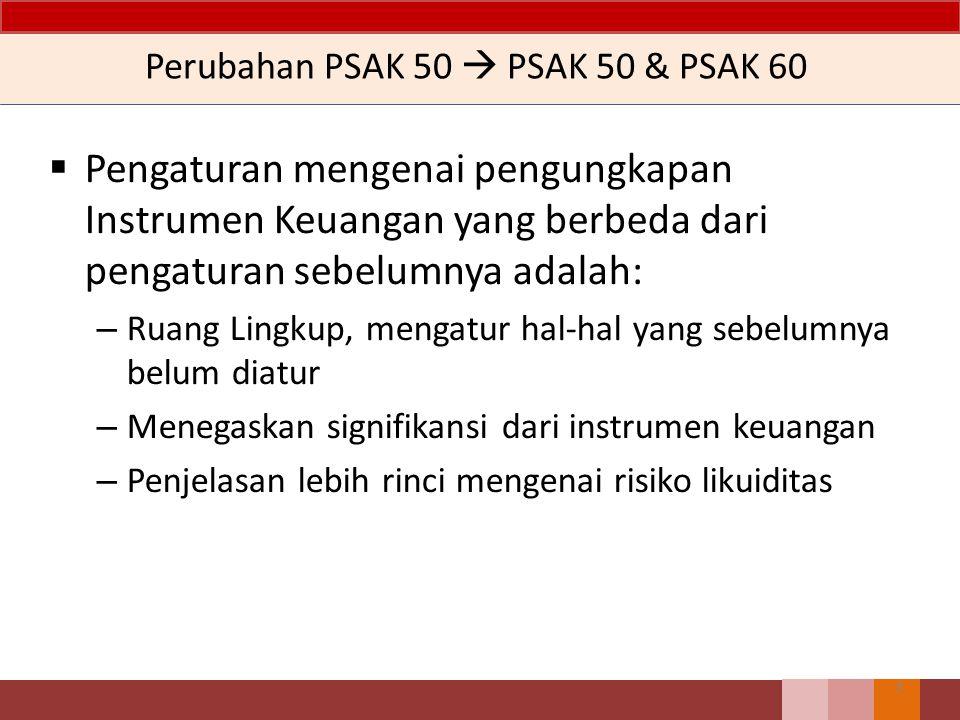 Perubahan PSAK 50  PSAK 50 & PSAK 60