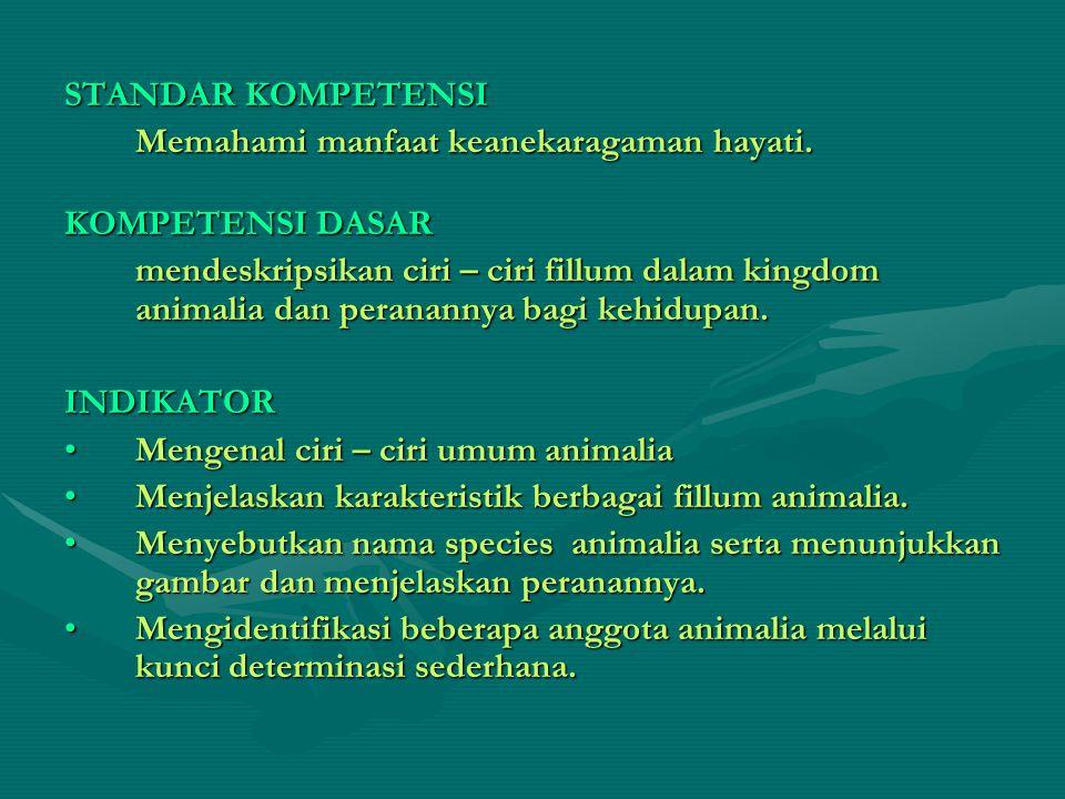 STANDAR KOMPETENSI Memahami manfaat keanekaragaman hayati. KOMPETENSI DASAR.