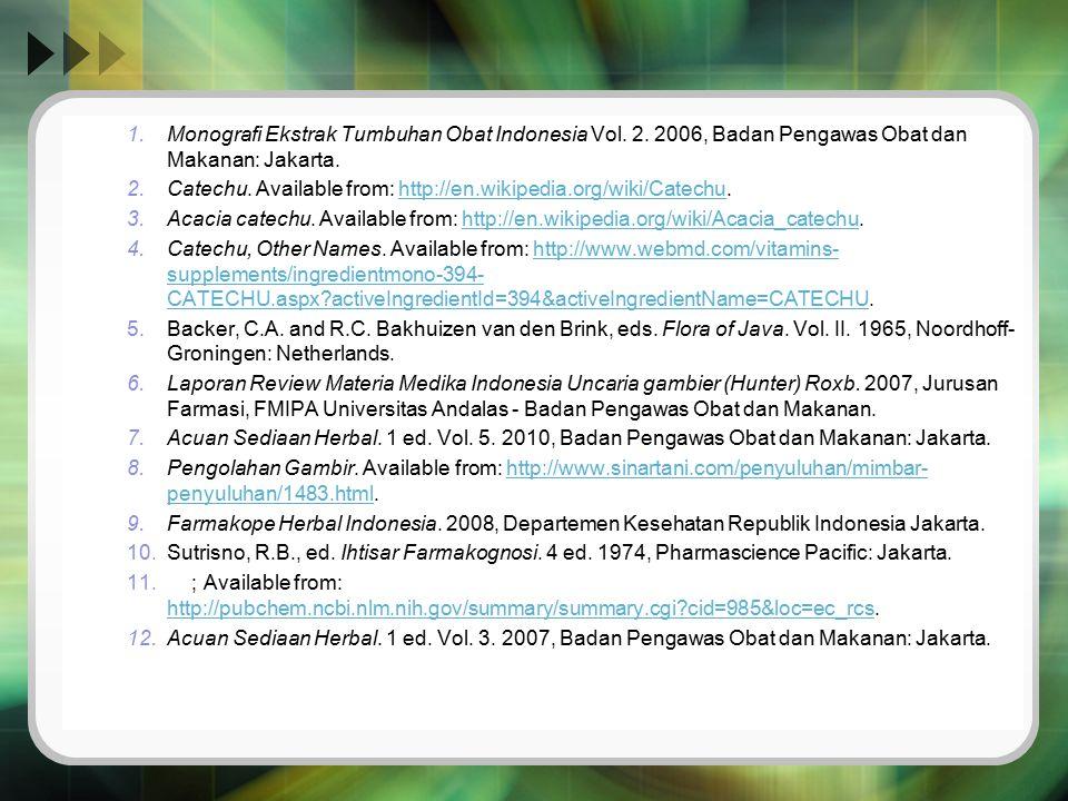 Monografi Ekstrak Tumbuhan Obat Indonesia Vol. 2