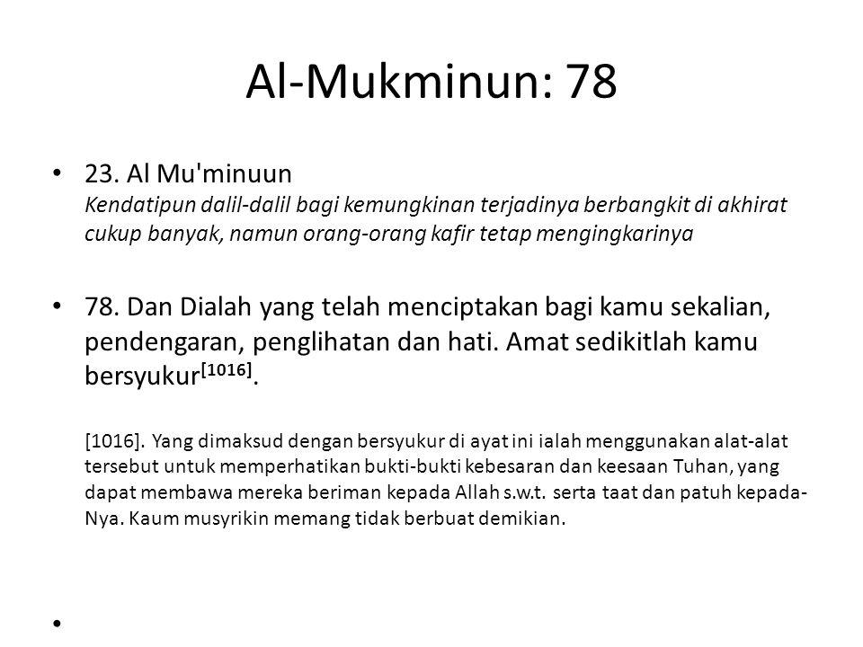 Al-Mukminun: 78