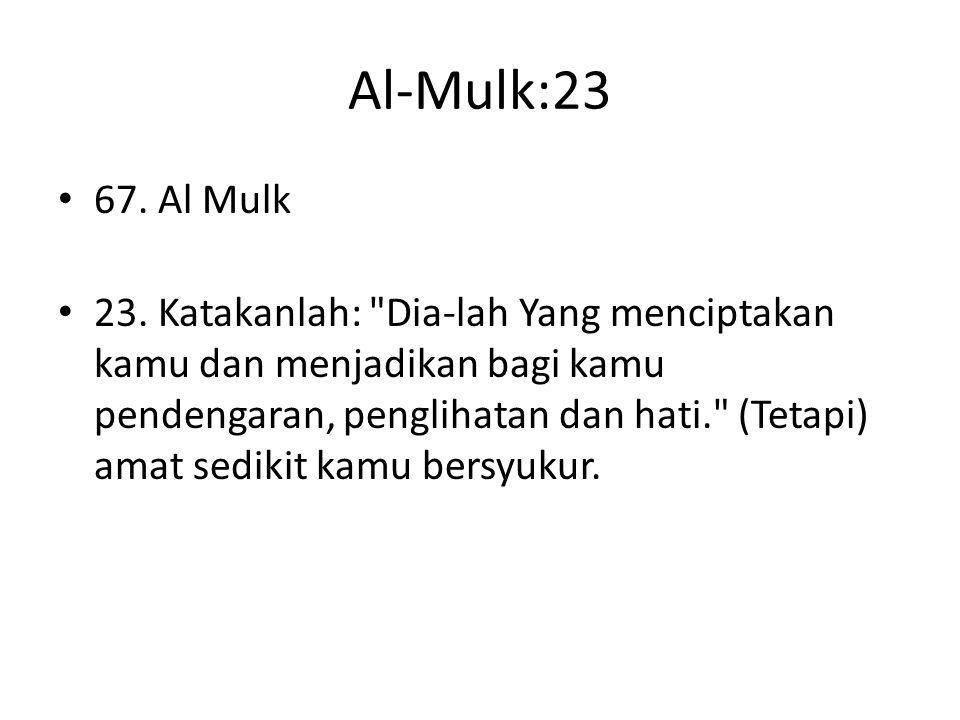 Al-Mulk:23 67. Al Mulk.