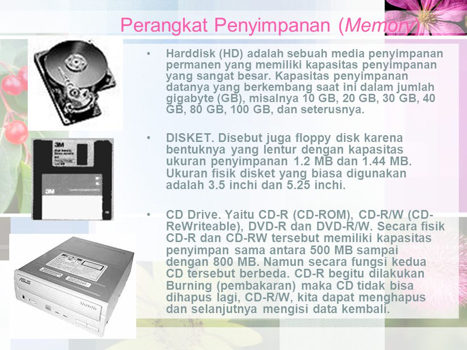 Perangkat Penyimpanan (Memory)