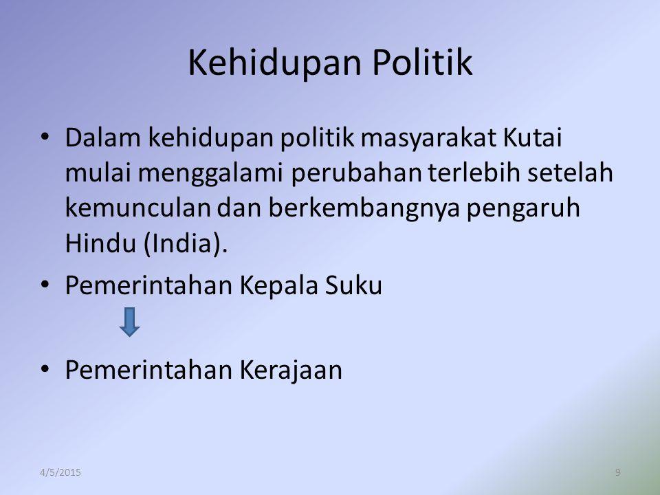 Kehidupan Politik