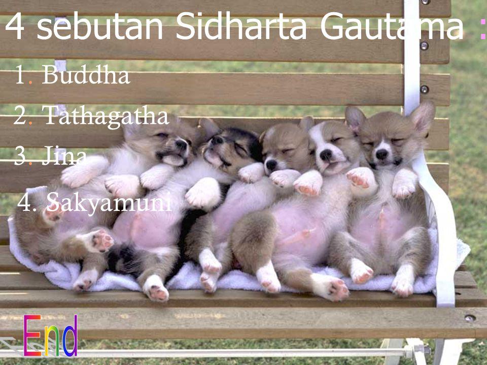 4 sebutan Sidharta Gautama :