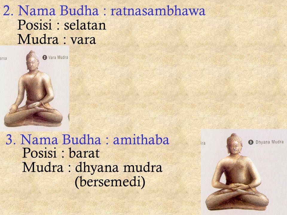 2. Nama Budha : ratnasambhawa