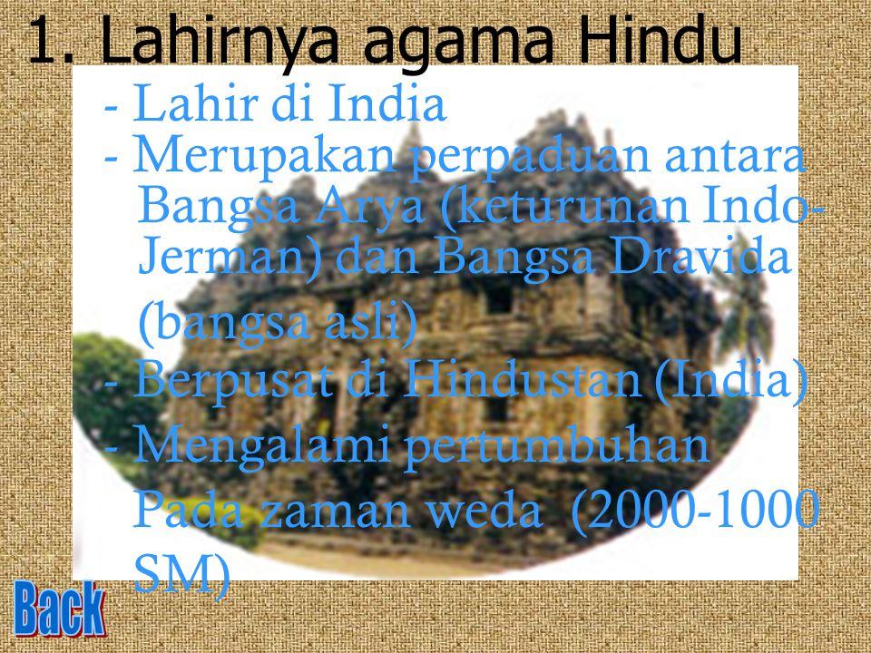 Lahirnya agama Hindu - Lahir di India - Merupakan perpaduan antara
