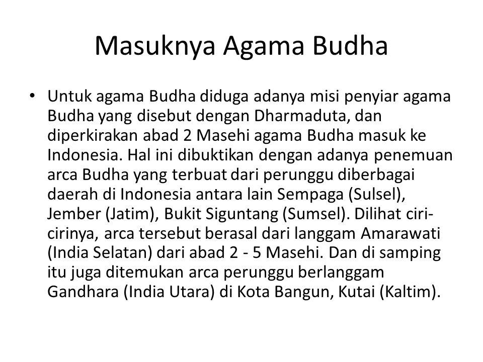 Masuknya Agama Budha