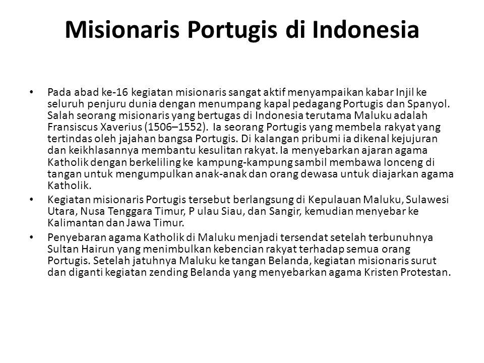 Misionaris Portugis di Indonesia