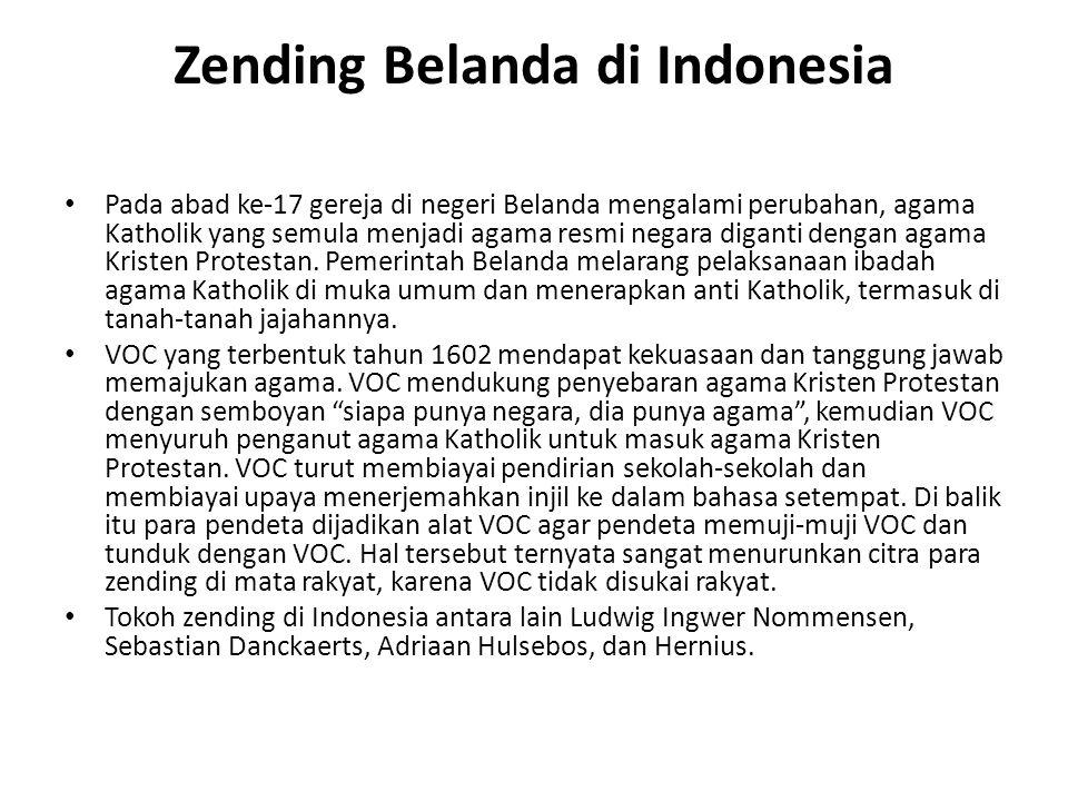 Zending Belanda di Indonesia