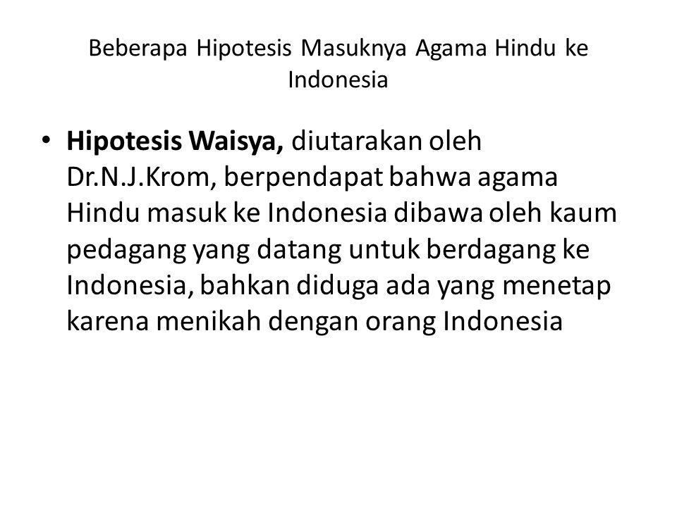 Beberapa Hipotesis Masuknya Agama Hindu ke Indonesia