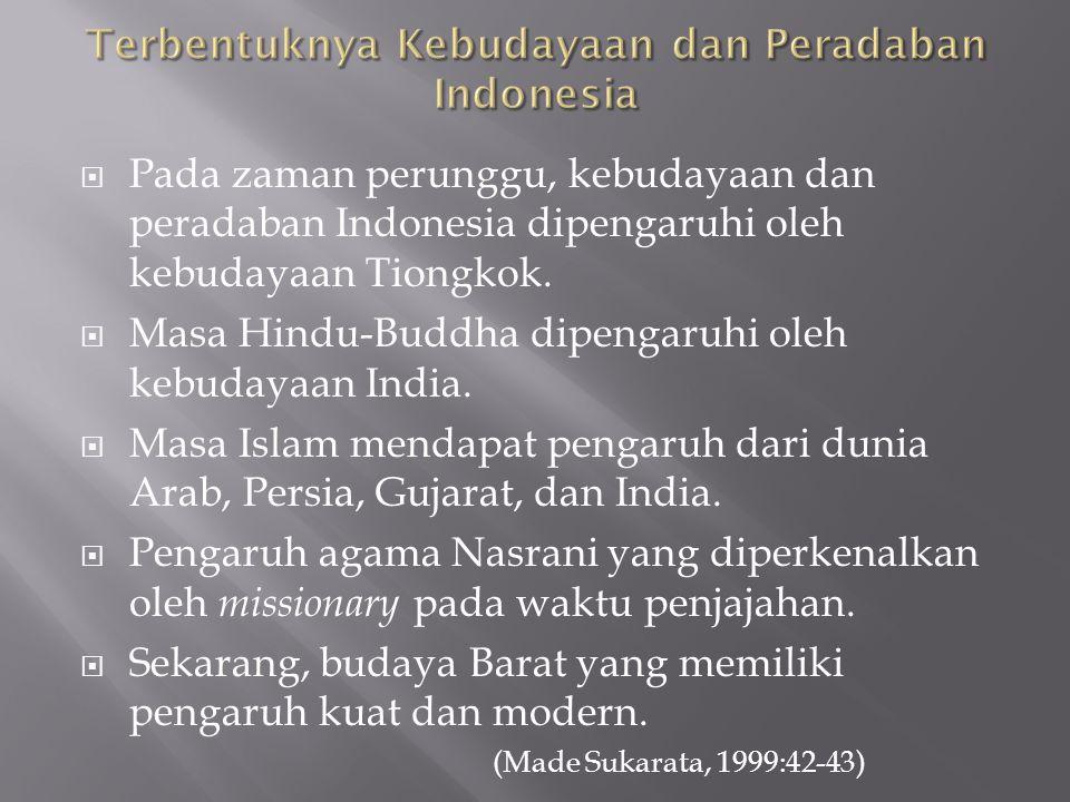 Terbentuknya Kebudayaan dan Peradaban Indonesia