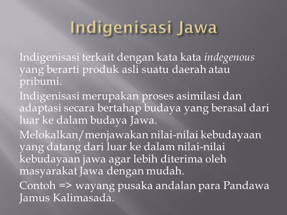 Indigenisasi Jawa