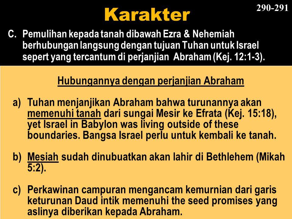Hubungannya dengan perjanjian Abraham