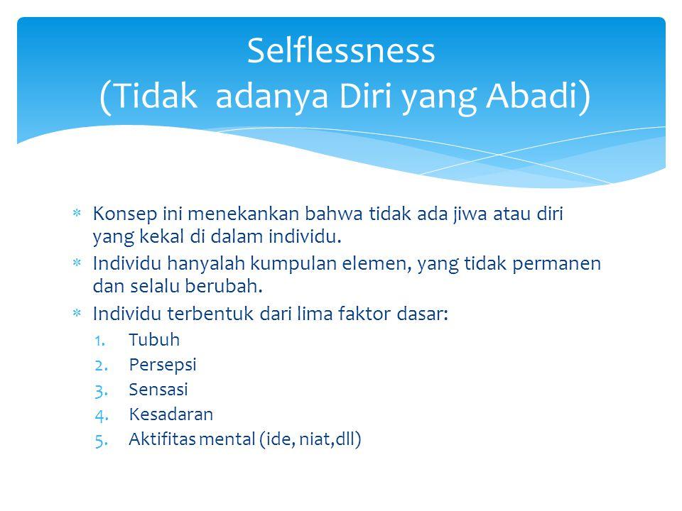 Selflessness (Tidak adanya Diri yang Abadi)