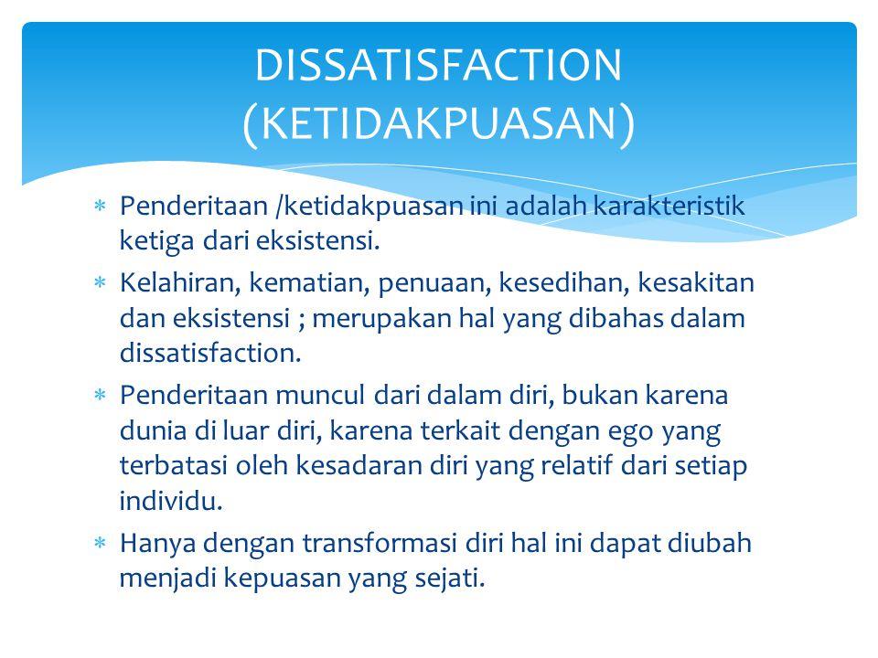 DISSATISFACTION (KETIDAKPUASAN)
