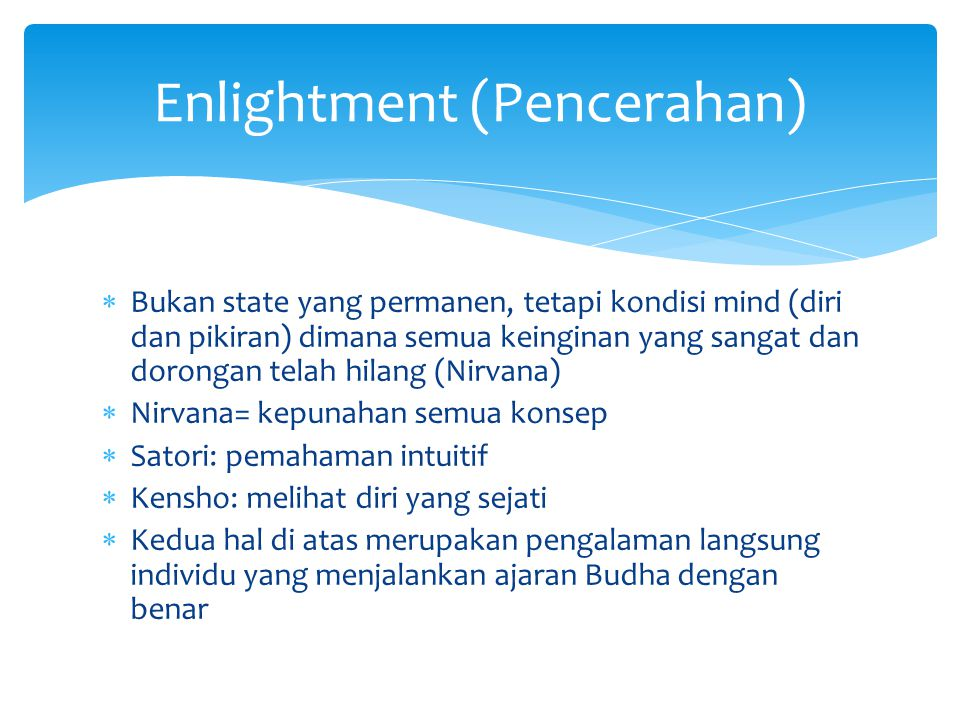 Enlightment (Pencerahan)