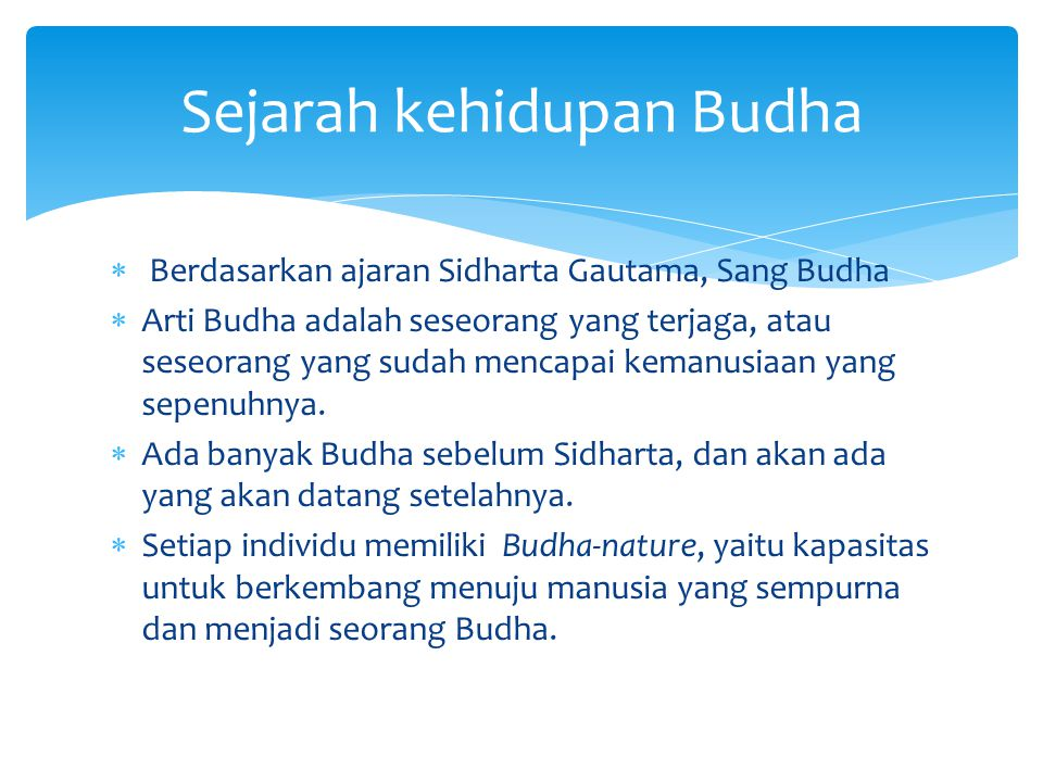 Sejarah kehidupan Budha