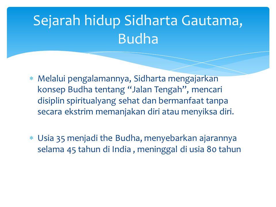 Sejarah hidup Sidharta Gautama, Budha