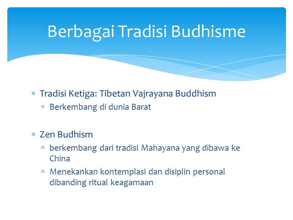 Berbagai Tradisi Budhisme