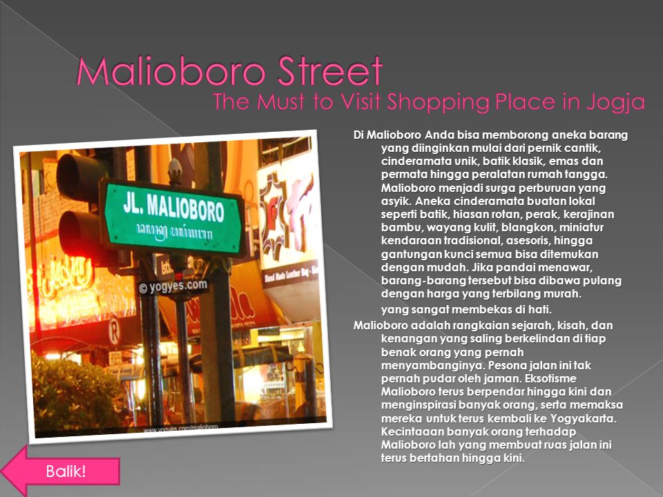 Malioboro Street The Must to Visit Shopping Place in Jogja Balik!