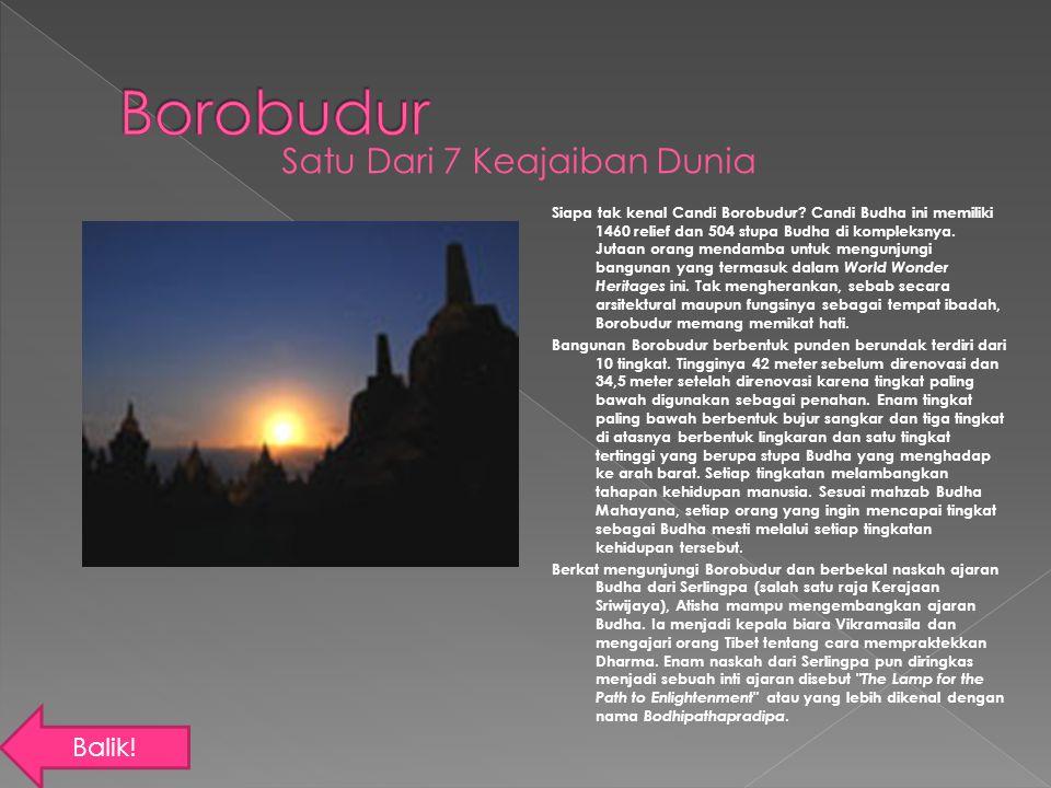Borobudur Satu Dari 7 Keajaiban Dunia Balik!
