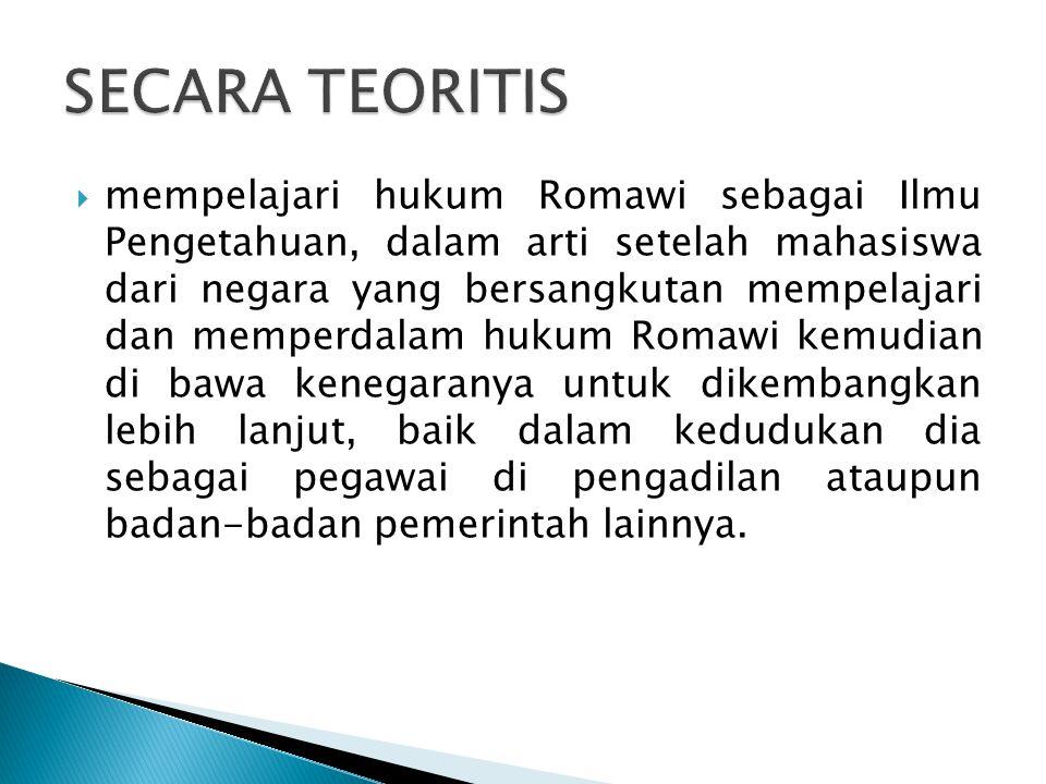 SECARA TEORITIS