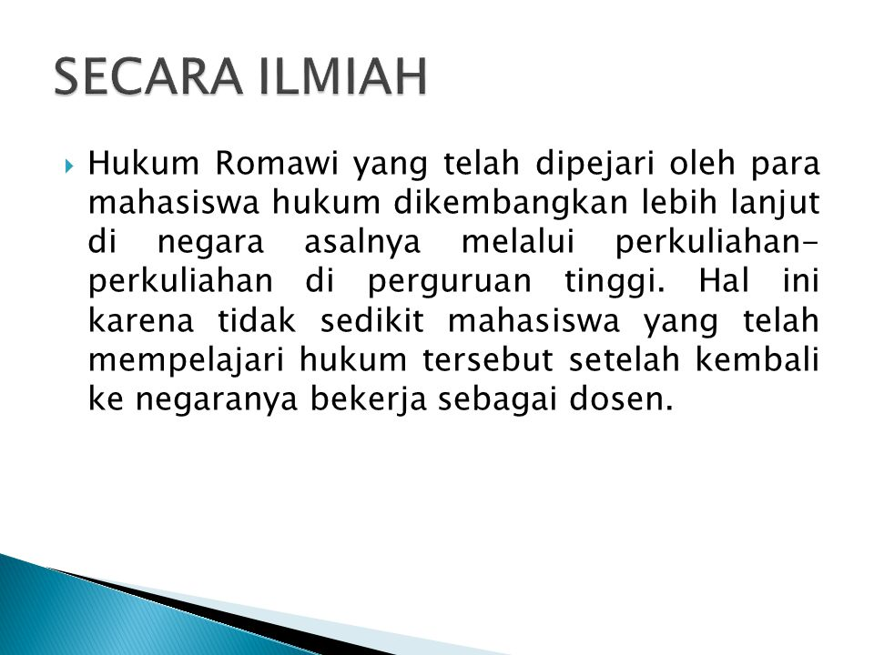 SECARA ILMIAH