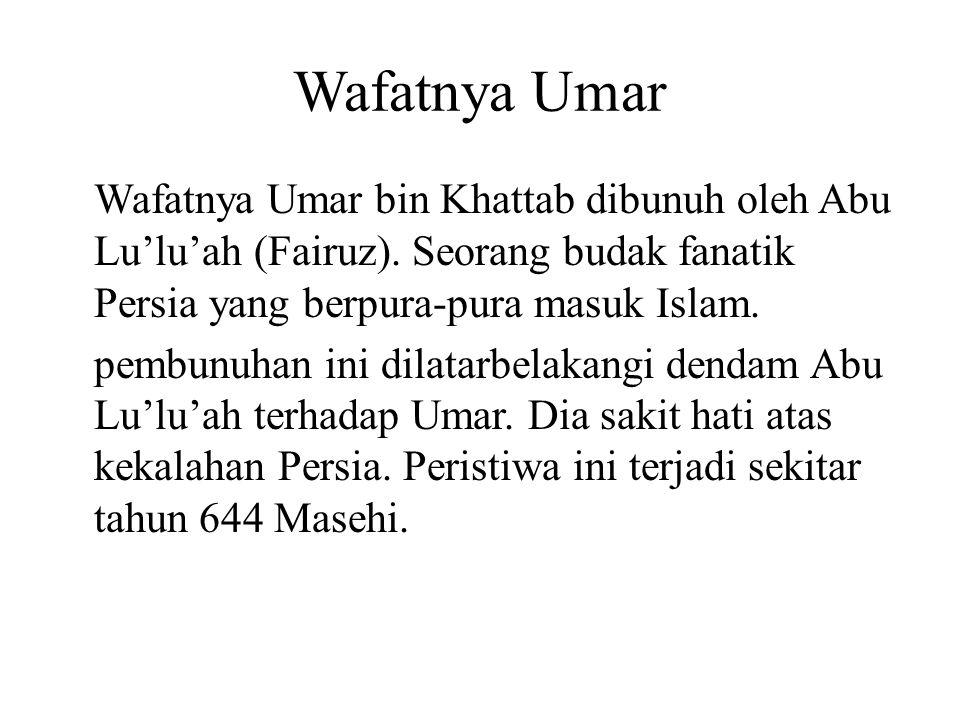 Wafatnya Umar