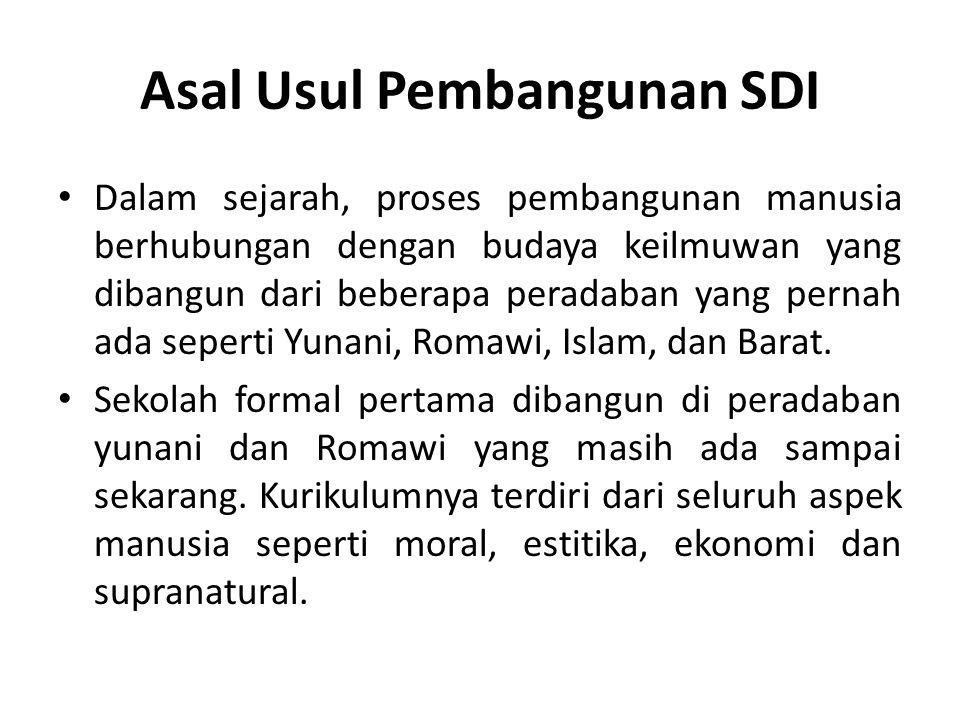Asal Usul Pembangunan SDI