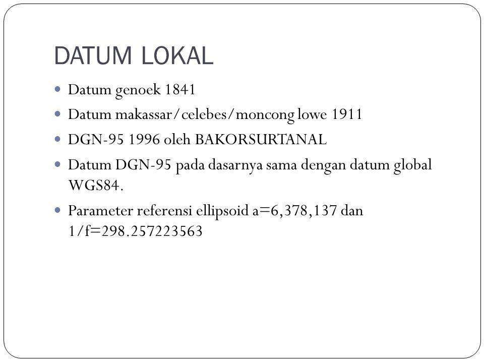 DATUM LOKAL Datum genoek 1841 Datum makassar/celebes/moncong lowe 1911